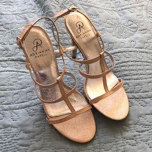 NWOT gold heels